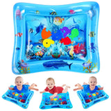 VATOS Tummy Time Baby Water Play Mat Toys for 3 6 9 Months Newborn Infant&Toddlers, Inflatable Sensory Toys Gifts for Boy Girl|BPA Free Infant Early Development Activity Centers