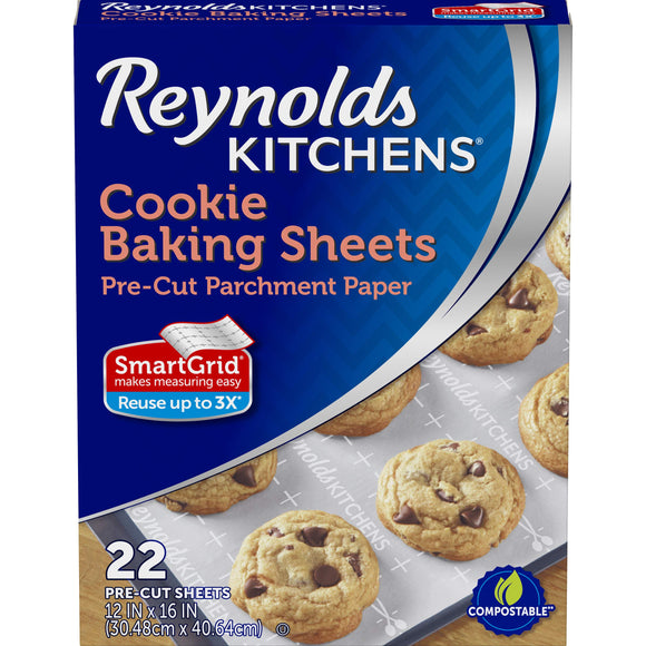 Reynolds Kitchens Non-Stick Baking Parchment Paper Sheets - 12x16 Inch, 22 Count