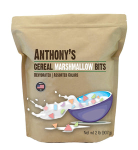 Anthony's Cereal Marshmallow Bits, 2 lb, Dehydrated, Assorted Colors & Shapes, Made in USA 2 Pound (Pack of 1)