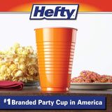 Hefty Disposable Plastic Cups in Assorted Colors - 16 Oz, 100 Count