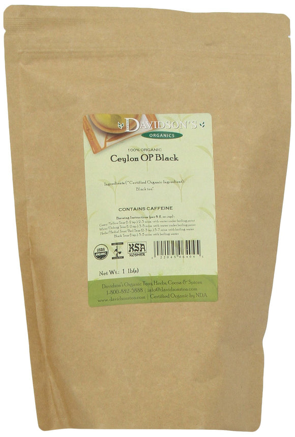Davidson's Tea Bulk, Ceylon Op Black, 1 lb Bag