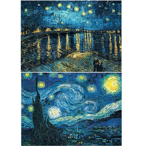 HaiMay 2 Pack DIY 5D Diamond Painting Kits for Adults Paint by Number Kits Full Drill Painting Diamond Pictures Arts Craft for Wall Decoration, Starry Night (16x20 inches) 16x20 inches