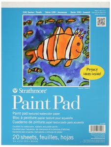 "Strathmore 27-209 100 Series Youth Paint Pad, 9""x12"" Tape Bound, 20 Sheets 9 by 12"""