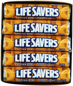 NO USAR!!!!!!!!!!!! Life Savers Butter Rum Hard Candy, 1.14 ounce (20 Single Packs)
