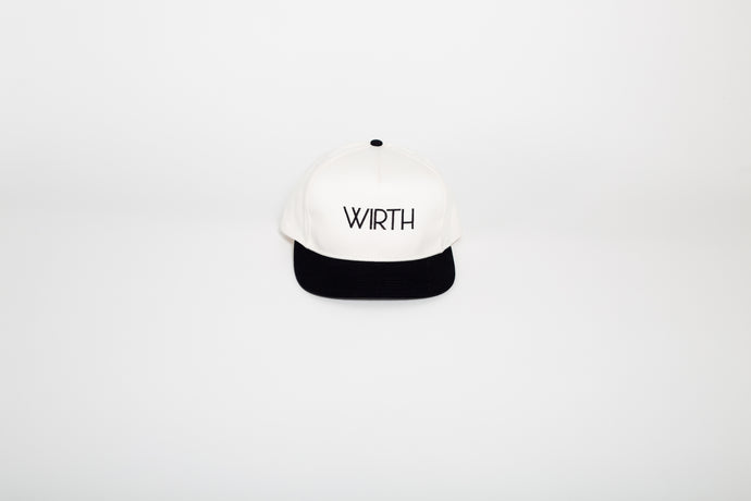 Natural/Black Five Panel Snapback Cap
