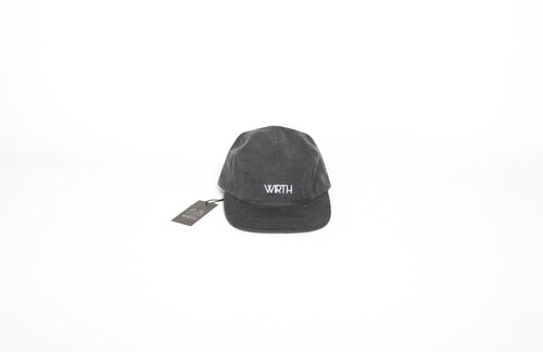 Grey Oilskin Five Panel Cap