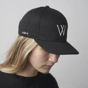 "1-for-1 Hat - Black Wool Debossed ""W"" Logo"