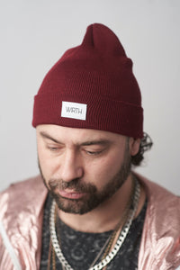 Burgundy Toque (aka Beanie) PRE-ORDER ONLY (Delivery Aprox. 6-8 Weeks)