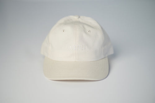 Cream Low-Crown Six Panel Cap