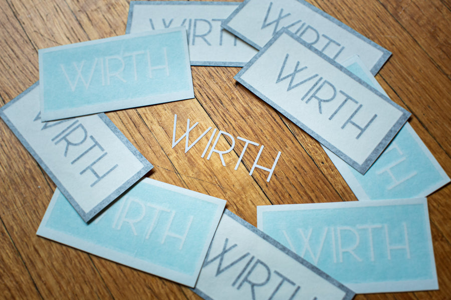 WIRTH Decal 2 Pack