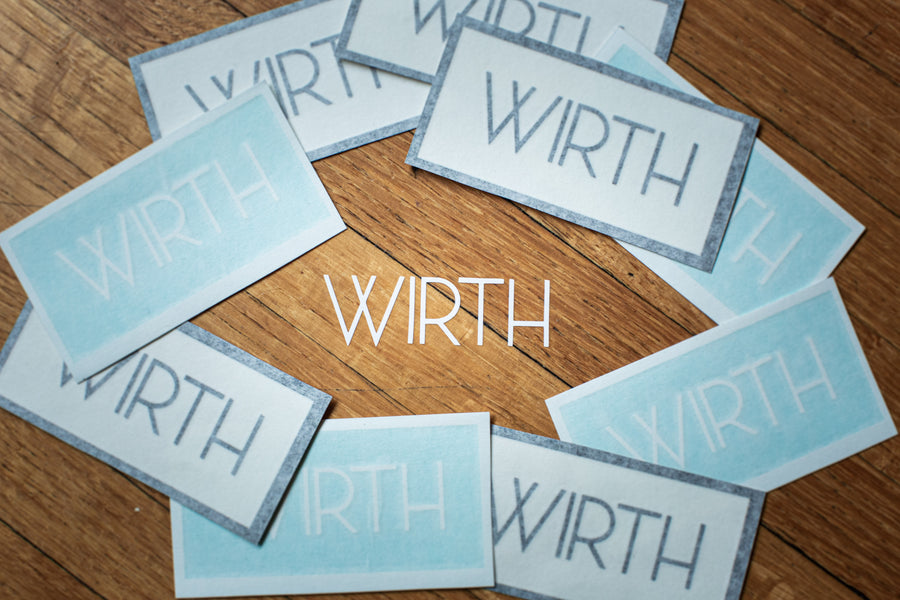 WIRTH Decal 2 Pack - Black & White