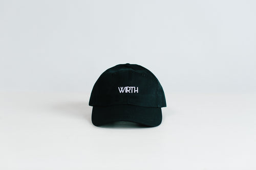 Black Low-Crown Six Panel Cap
