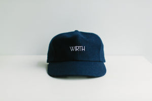 Navy Wool Cap