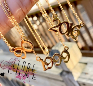 Birth Year Necklace / Anklets