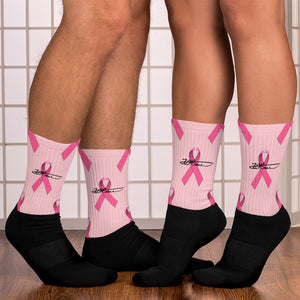 Pink Breast Cancer Socks