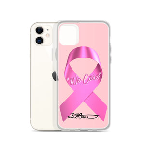 We Care Breast Cancer iPhone Case