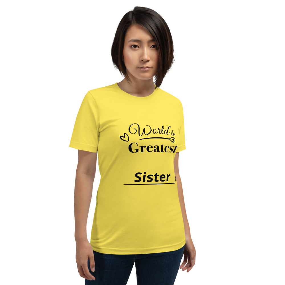 Short-Sleeve Unisex T-Shirt For Sister's