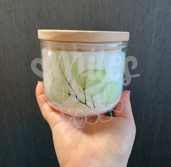 Jar of Thanks - Green Leaves Glass