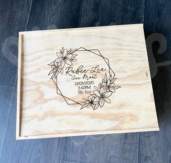 Keepsake Box - Geometric Florals