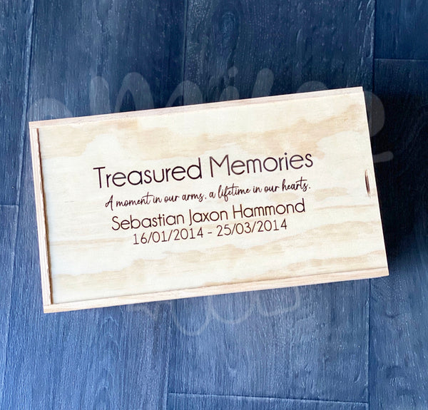 Keepsake Box - Treasured Memories - Poem