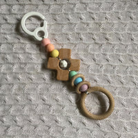 BIG CLEAN OUT! Hanging Toy - Pastel Rainbow Cross