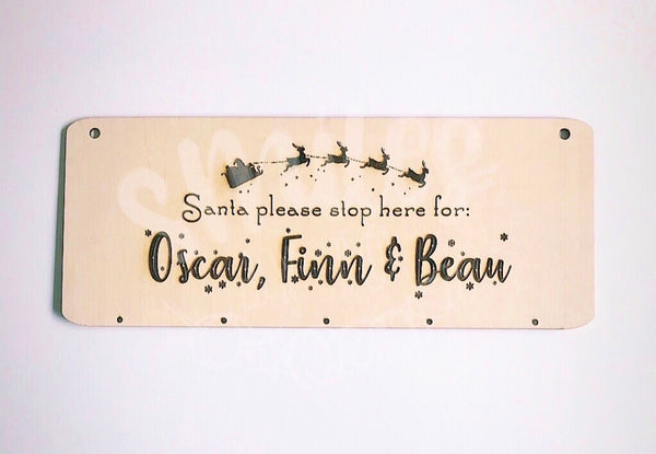 Christmas Board - Santa Stop Here