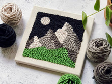 Load image into Gallery viewer, Adjustable punch needle start kit - Mountain range