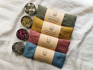 Refillable Handmade Herbs Eye Pillow - Soothe stress and balance