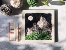 Load image into Gallery viewer, Oxford Punch Needle start kit - Mountain range