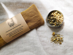 Refillable Handmade Herbs Eye Pillow - Relieve pressure and pain