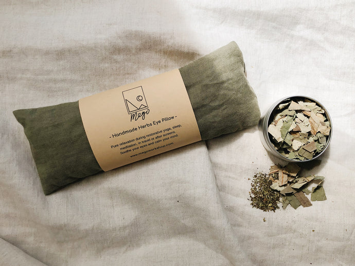 Refillable Handmade Herbs Eye Pillow - Relieve anxiety and fatigue