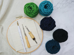 Adjustable punch needle start kit - Midnight