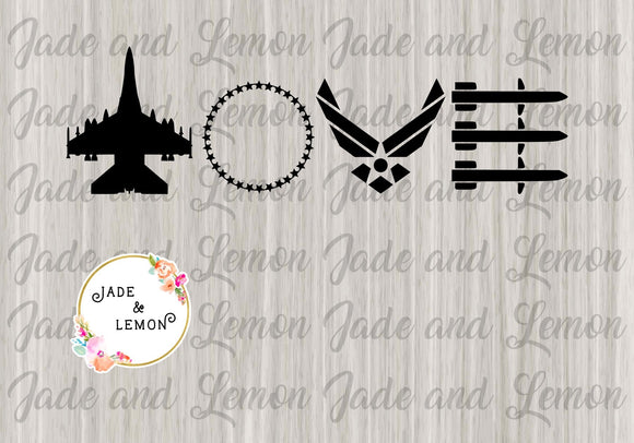 Air Force Love Missiles Decal