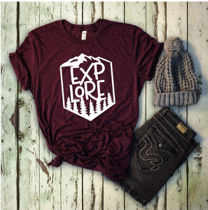 Explore T-Shirt - Maroon
