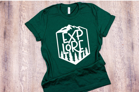 Explore T-Shirt - Emerald