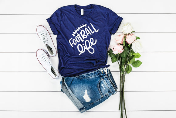 Football Life T-Shirt - Navy