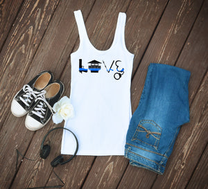Thin Blue Line Corrections Tank Top - White