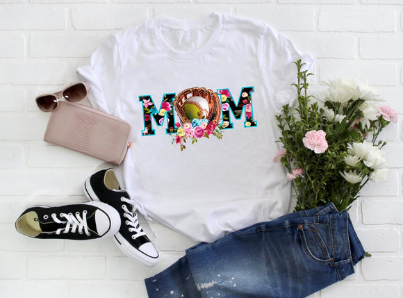 Baseball Softball Mom Tee