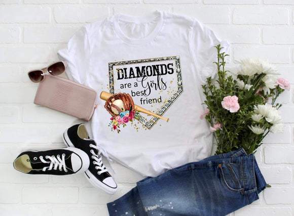 Diamonds Are a Girls Best Friend ~ Baseball Tee
