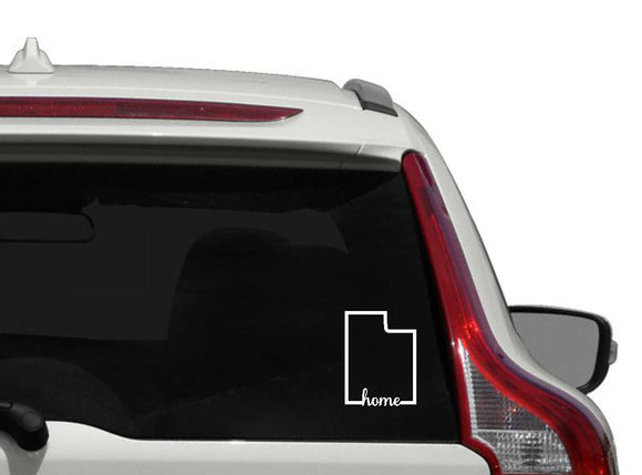 Utah home vinyl decal