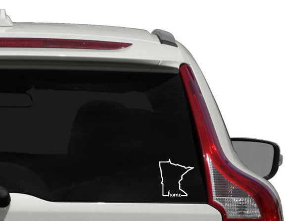 Minnesota home vinyl decal