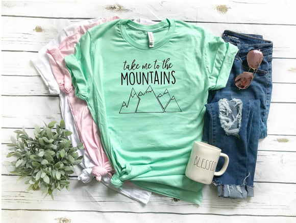 Take me to the Mountains T-Shirt - Mint