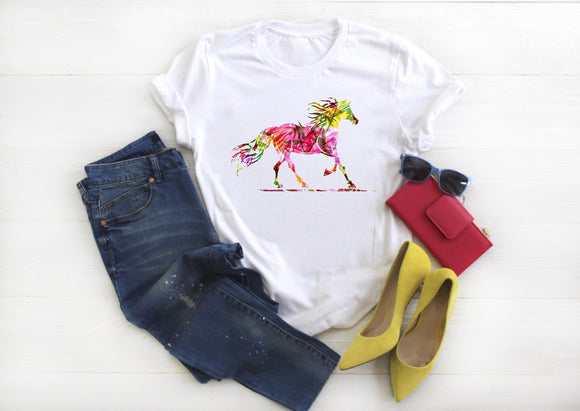 Abstract Horse Shirt