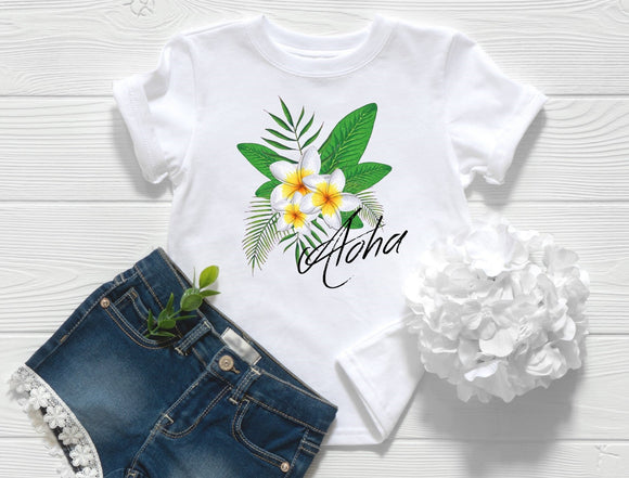 Aloha Plumeria Toddler Shirt