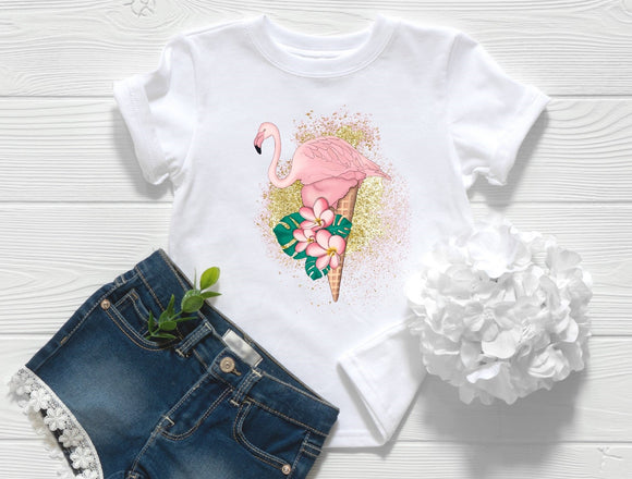 Flamingo Ice Cream Toddler Shirt