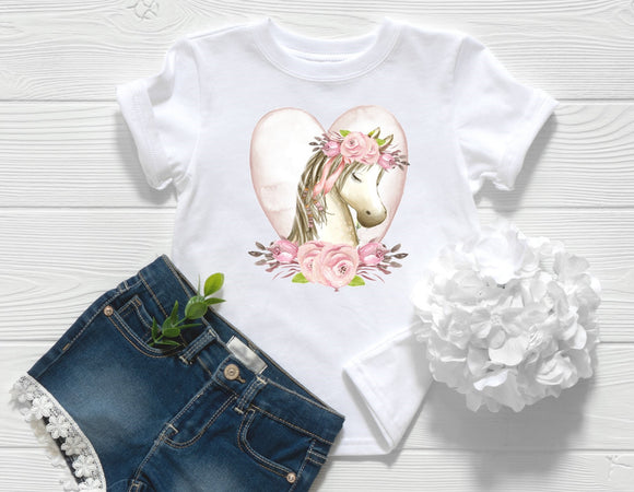 Floral Pony Toddler Shirt