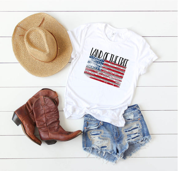 Land of the Free Flag Shirt