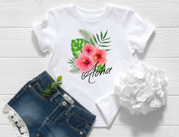 Aloha Hibiscus Toddler Shirt