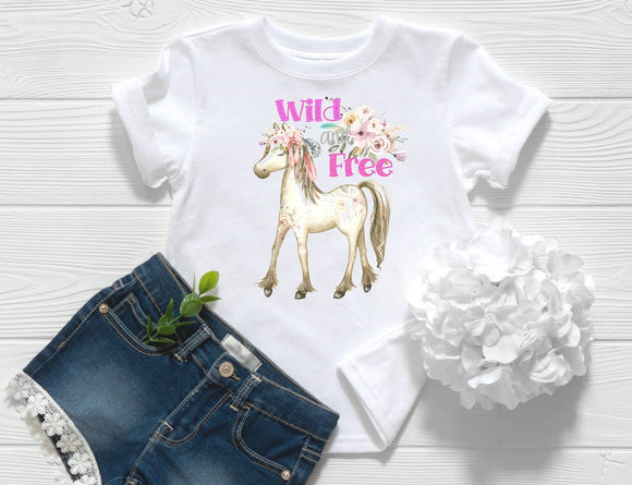 Wild and Free Pony Toddler Shirt