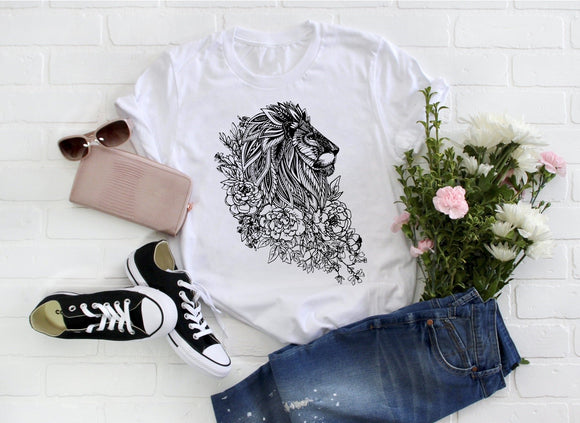 Zentangle Lion Shirt